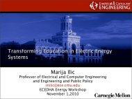 Transforming Education in Electric Energy Systems Marija Ilic - ecedha
