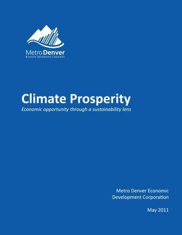 Metro Denver climate prosperity strategy - Global Urban Development