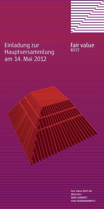 Einladung zur Hauptversammlung am 14. Mai 2012