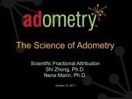 The Science of Adometry, Part 1 Attribution!