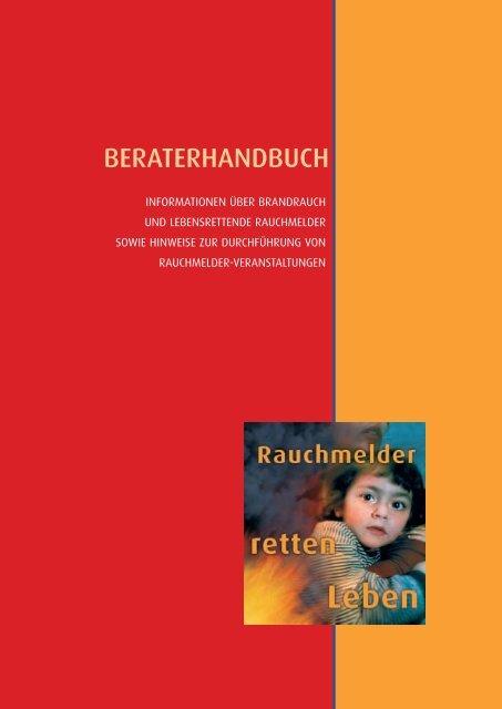 """Beraterhandbuch """"Informationen über Brandrauch und Rauchmelder"""""""