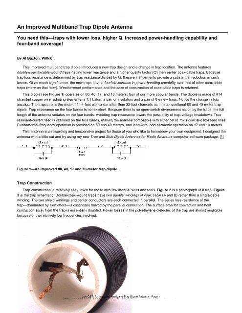 An Improved Multiband Trap Dipole Antenna - PDF - Iw5edi com