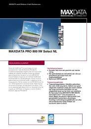 MAXDATA PRO 800 IW Select NL