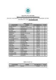 I risultati della prova scritta di Sistemi Informativi del 30 Settembre ...