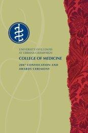 Convo 07 Program.indd - College of Medicine - University of Illinois ...