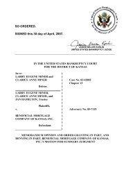 05-07119 Miner et al v. Beneficial Mortgage ... - District of Kansas