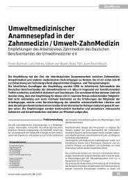 Umweltmedizinischer Anamnesepfad in der ... - UMG-Verlag