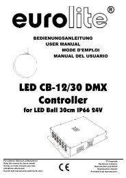 EUROLITE CB-12/30 DMX Controller for LED ... - LTT Versand GmbH