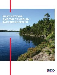 first nations and the canadian tax environment - BDO Canada