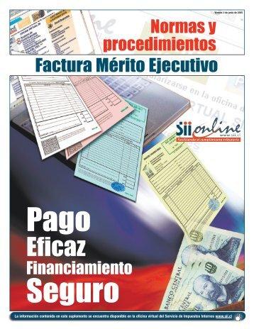 Normas y Procedimientos Factura Mérito Ejecutivo - Servicio de ...