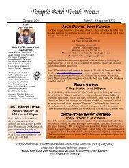 2011 Oct.pdf - Temple Beth Torah