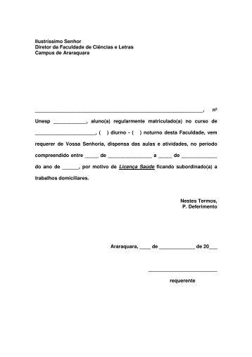 Licença Saúde - Faculdade de Ciências e Letras - Unesp