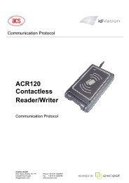 API Driver Manual ACR122U SAM - idVation