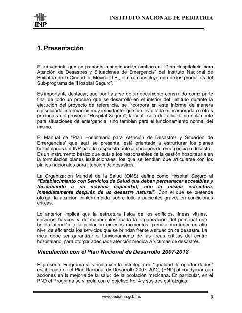 Instituto Nacional De Ped