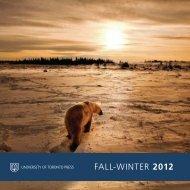 FALL-wINTER 2012 - University of Toronto Press Publishing