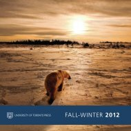 FALL-wINTER 2012 - University of Toronto Press Publishing