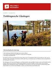 Trekkingwoche Glaskogen - Weltweitwandern