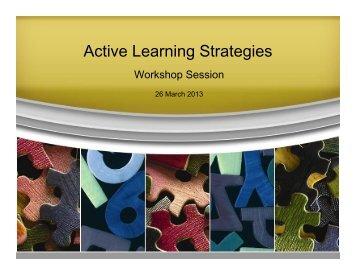 Active Learning Workshop - Singapore Polytechnic