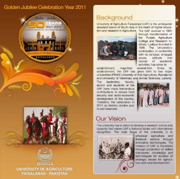 Brochure of Golden Jubilee Celebrations - Example