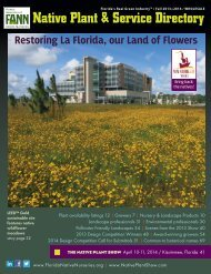 Native Plant & Service Directory - Florida Association of Native ...