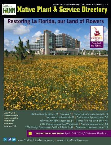 Native Plant & Service Directory - Florida Association of Native ...