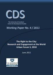 Research and Engagement at the World Urban Forum 5, 2010