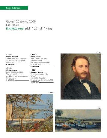 Giovedì 26 giugno 2008 Ore 20.30 Etichette verdi (dal n° 221 al n ...