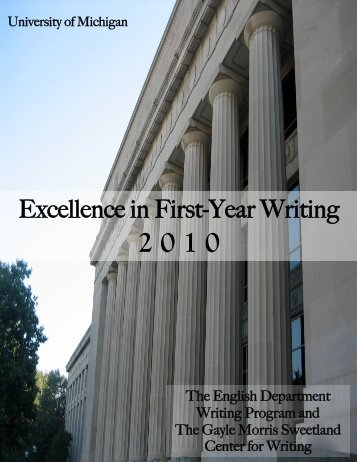 Excellence in First-Year Writing  - College of Literature, Science, and ...