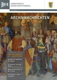 Archivnachrichten Nr. 43 , September 2011 - Landesarchiv Baden ...