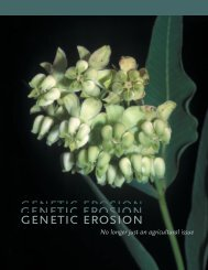 Genetic Erosion No longer just an agricultural issue