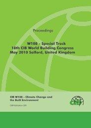 Proceedings W108 - Special Track 18th CIB World ... - Test Input