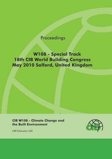 Proceedings W108 - Special Track 18th CIB World ... - Test Input
