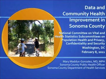 Data and Community Health Improvement in Sonoma County