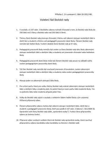Volební řád školské rady