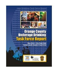 Orange County Underage Drinking Task Force Report