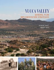Hearing Draft Implementation Strategies - Town of Yucca Valley