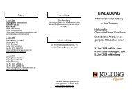 An-/Abmeldung - Verband der Kolpinghäuser eV