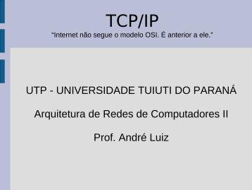 Níveis TCP/IP - Inter-rede - Gerds - Universidade Tuiuti do Paraná
