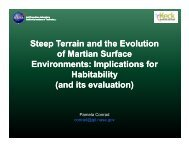 Steep Terrain and the Evolution Steep Terrain and the Evolution of ...