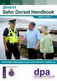 2010/11 Safer Dorset Handbook - Dorset Police