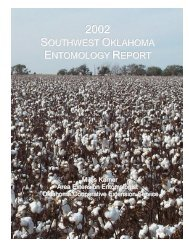 2002 - Oklahoma Crop Variety Trials - Oklahoma State University