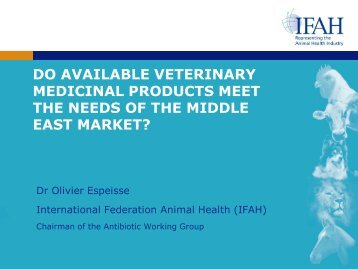 do available veterinary medicinal products meet the ... - Middle East