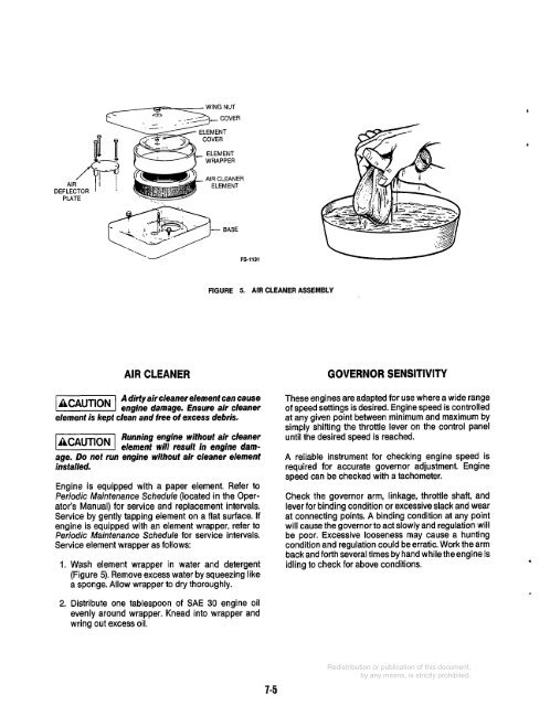 Onan Performer 16 Air Filter