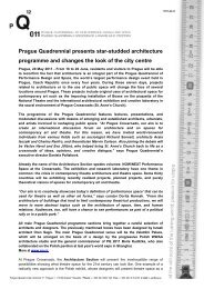 Architecture at the PQ press release - Prague Quadrennial