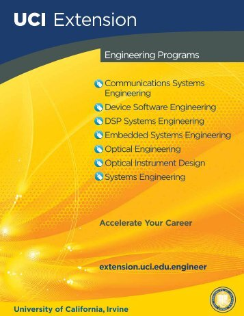 Engineering Brochure - UC Irvine Extension - University of California ...