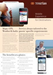 Mobile Experience for Destinations The benefits at a glance: Service ...