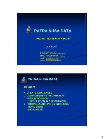 PATRA NUSA DATA - CCOP