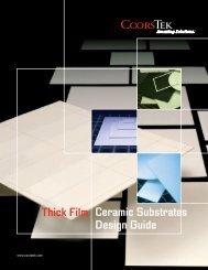 t h i c k - f i l m  ceramic substrates design guide - CoorsTek