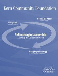 2006 Annual Report - Kern Community Foundation