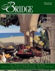 JLBR - The Bridge - Nov 2004 - Junior League of Boca Raton